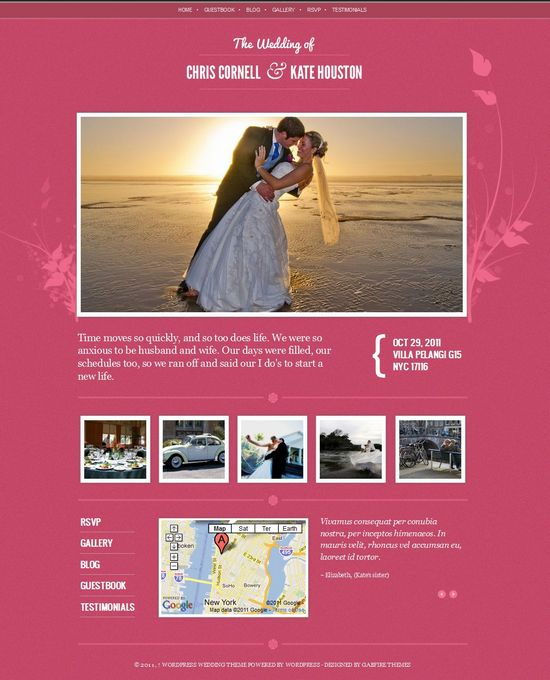 Gabfire Wedding WordPress Theme Gabfire Wedding is a minimalist theme from
