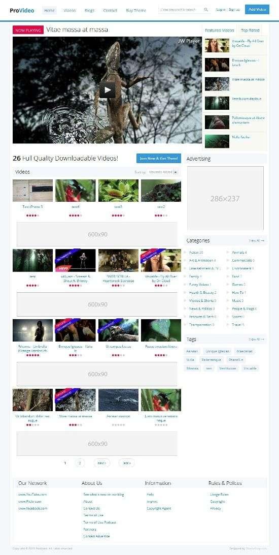 provideo themesnap avjthemescom 01 - ProVideo Drupal Theme