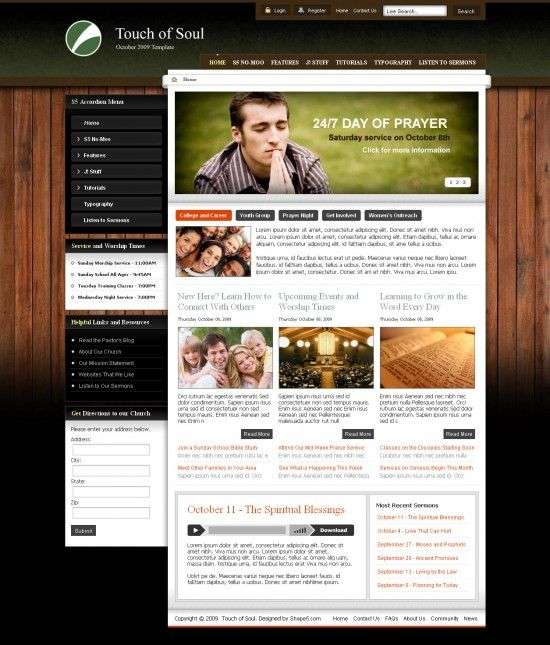 touch of soul 550x645 - Touch of Soul Joomla Template
