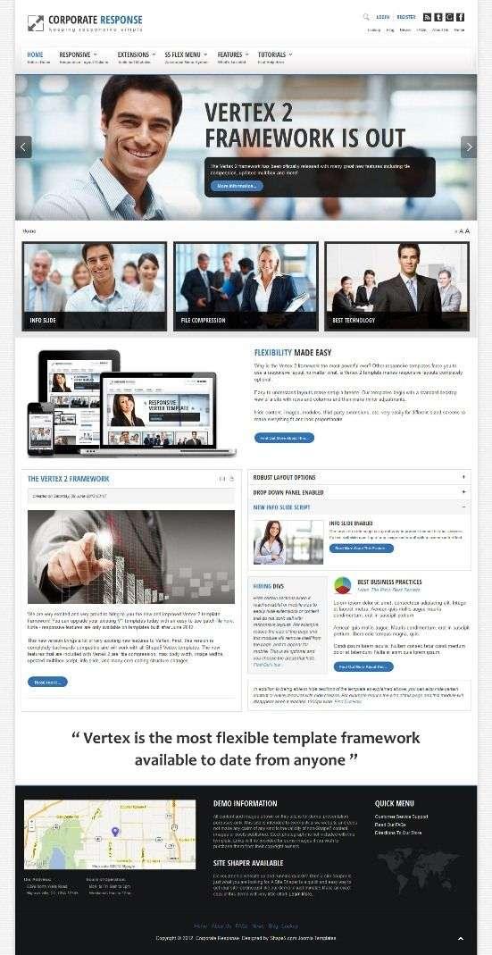 corporate response joomla template - Corporate Response Joomla Template