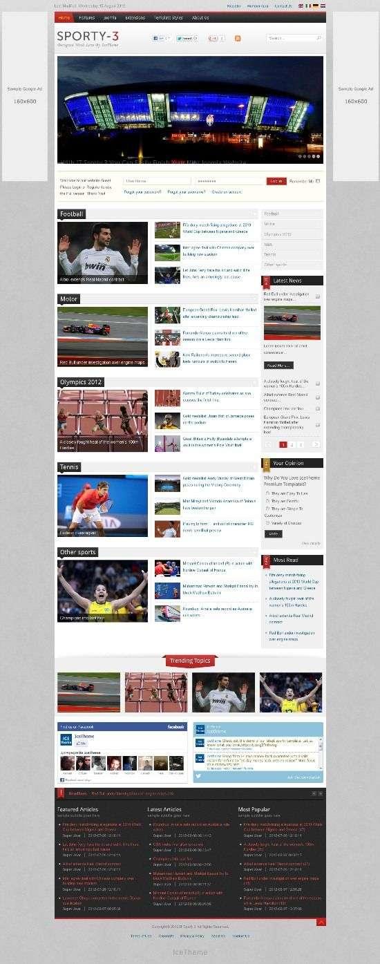 it sporty icetheme avjthemescom 01 - IT Sporty 3 Joomla Template