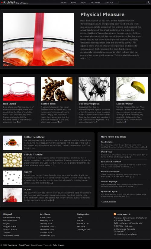 superblogger dark avjthemescom - Superblogger - Wordpress Theme