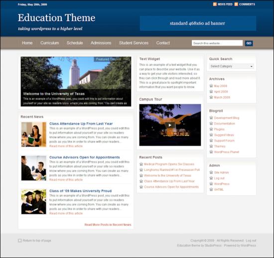 education avjthemescom studiopress - Education Wordpress Theme