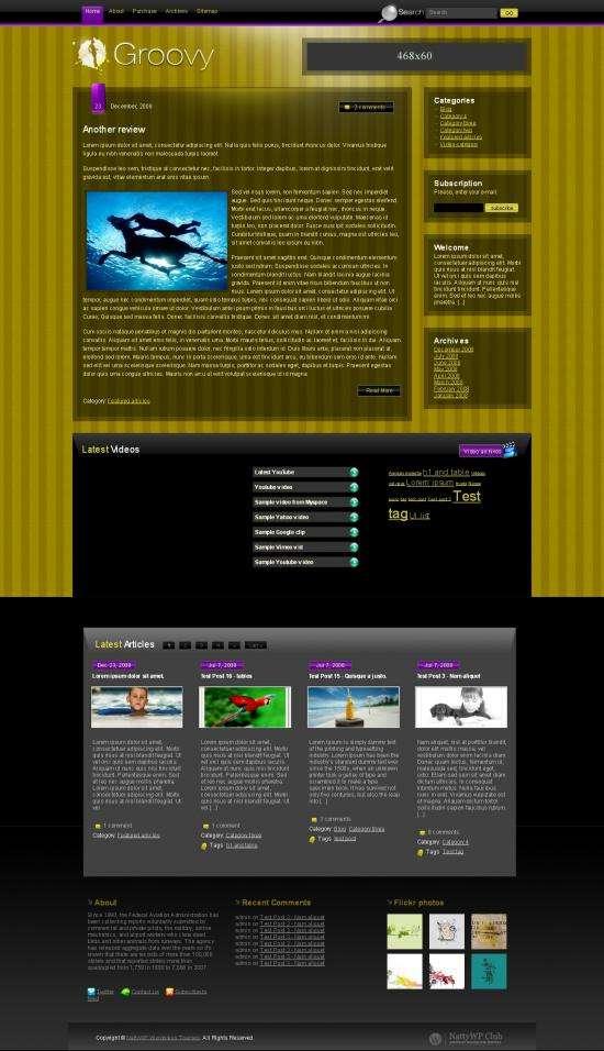 groovy avjthemescom nattwp - Groovy Wordpress Theme