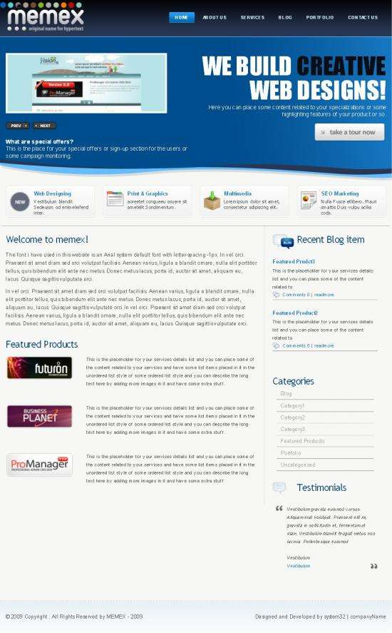 memex themeforest avjthemescom - Memex Business Wordpress Template