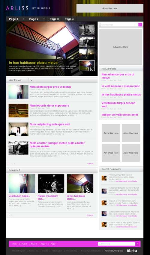arliss wordpress theme - Arliss Wordpress Theme