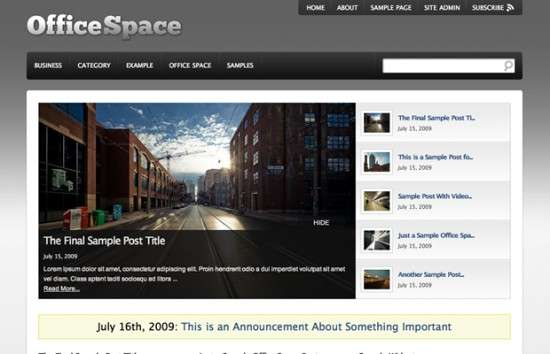 office space 550x354 - Office Space Wordpress Theme