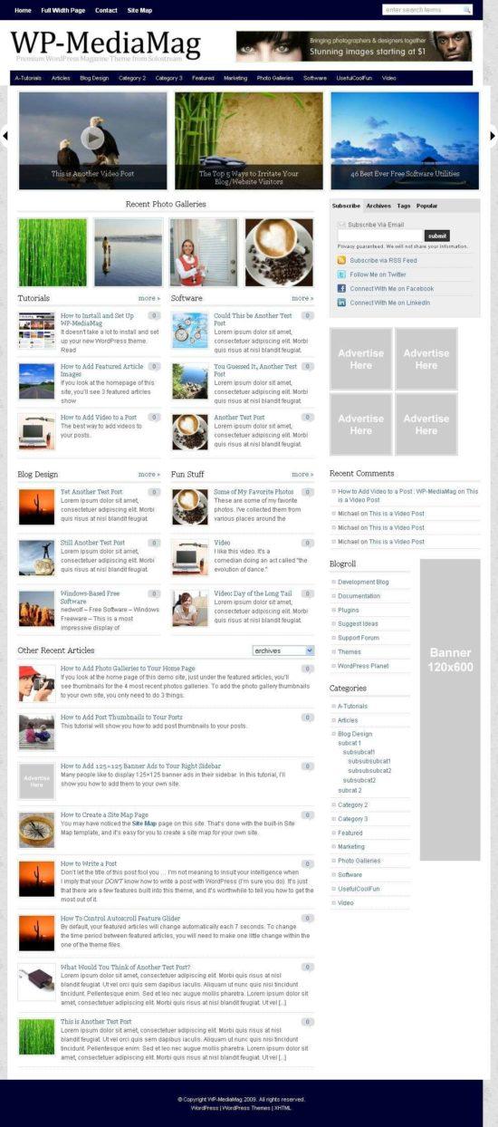 wp mediamag solostream wordpress theme 550x1244 - WP-MediaMag Wordpress Theme