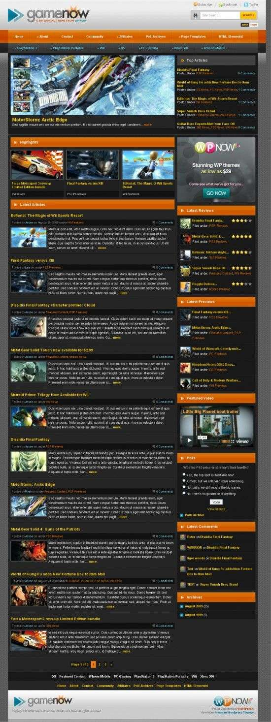 gamenow wpnow avjthemescom 550x1467 - GameNow Wordpress Theme