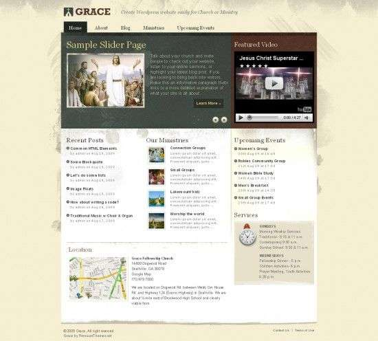 grace church premiumthemes avjthemes 550x496 - Grace Wordpress Theme