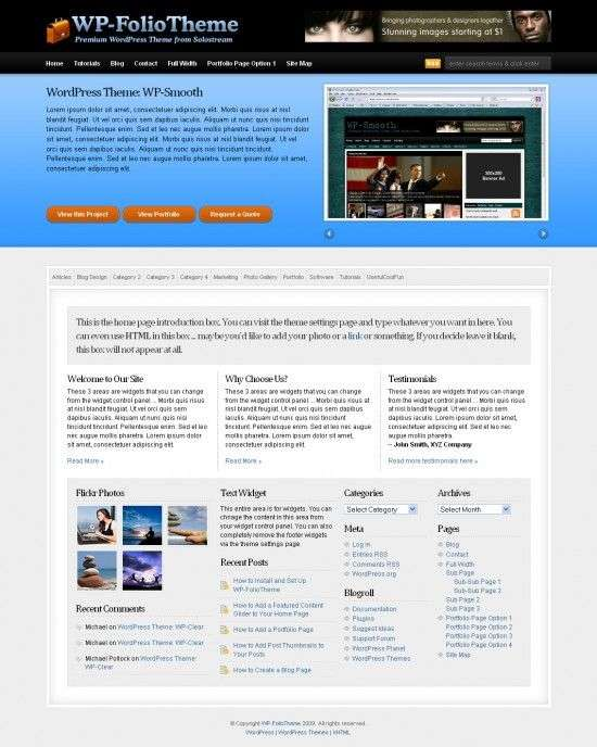 wp folio solostream 550x688 - WP-Folio Wordpress Theme