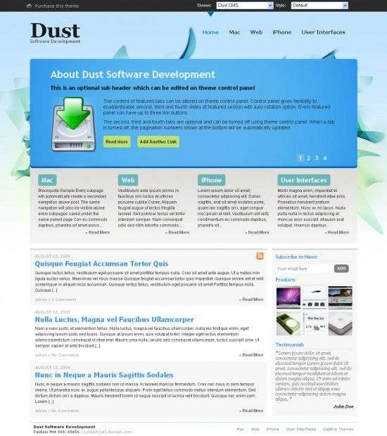 Dust WordPress CMS Theme 550x620 - Dust Wordpress Theme