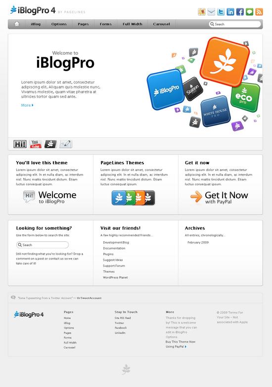 iblogpro 4 wordpress theme - Pagelines Premium Wordpress Themes
