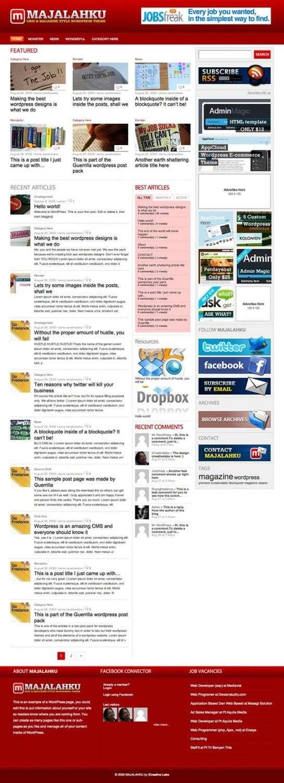 majalahku wordpress theme 545x1500 - iCreativelabs Premium Wordpress Themes