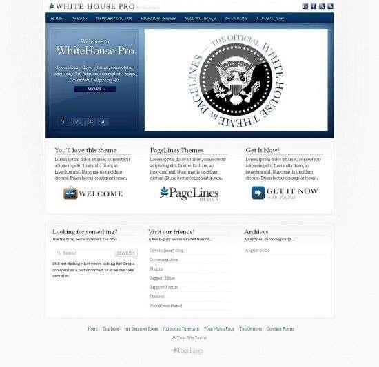 white house pro 550x533 - Pagelines Premium Wordpress Themes