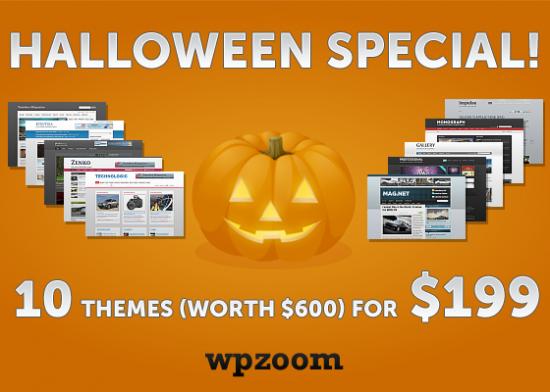 wpzoom halloween 550x392 - Wpzoom Halloween Special Discount Offer