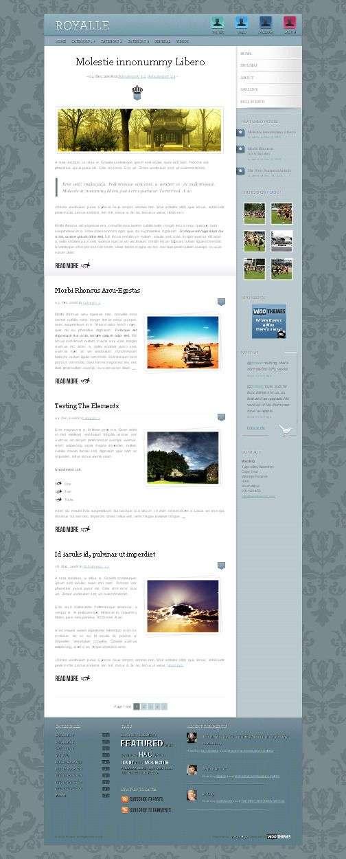 Royalle Designed wordpress theme - Royalle Wordpress Theme