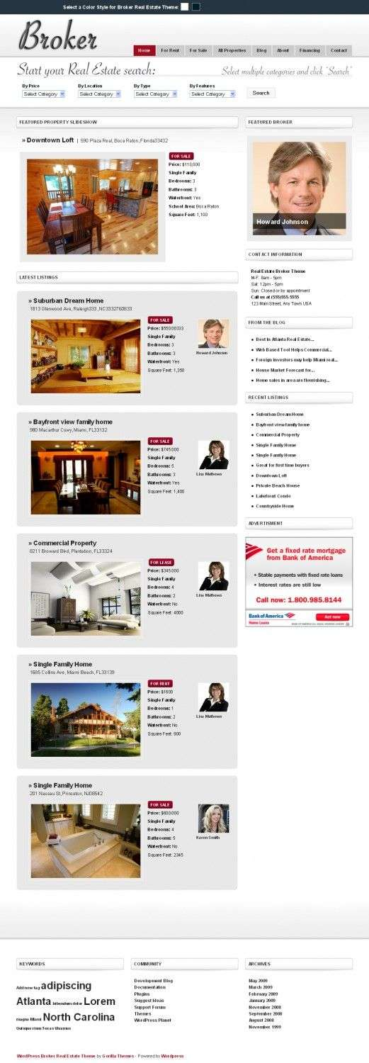 broker real estate gorilla wordpress theme 521x1500 - Broker Wordpress Theme