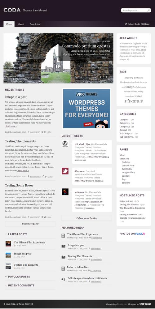 coda magazine woo wordpress theme - Coda Premium WordPress Theme