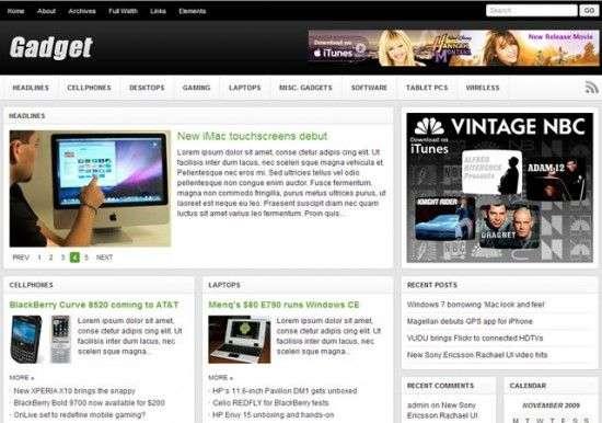 gadget wordpress theme 550x386 - Gadget Wordpress Theme