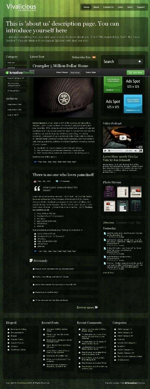 viva licious - Kreative Premium Wordpress Themes