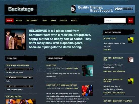 backstage woothemes wordpress themes 550x412 - Backstage Wordpress Theme