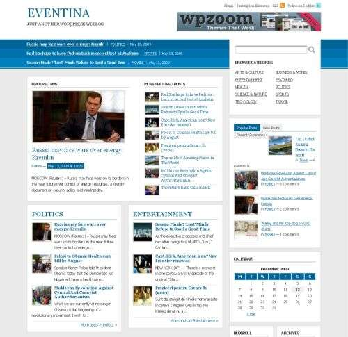 eventia wordpress theme - Wpzoom Premium Wordpress Themes