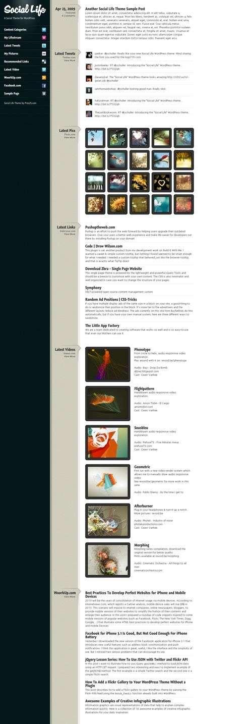 social life wordpress theme - Social Life Wordpress Theme