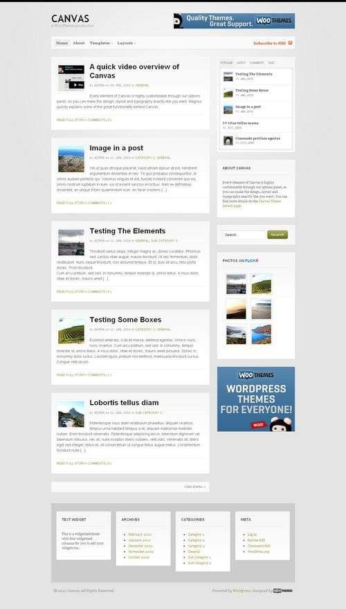 avj canvas woothemes premium wordpress - Canvas Wordpress Theme