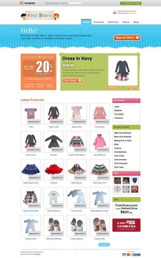 kidz store templatic themes 550x883 - Kidz Store Wordpress Theme
