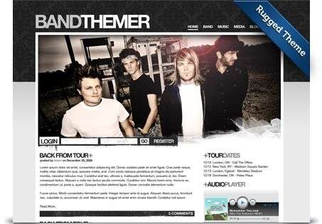 rugged wordpress theme - BandThemer Wordpress Themes