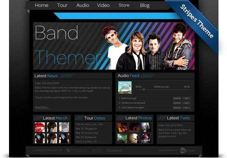 stripes wordpress theme - BandThemer Wordpress Themes