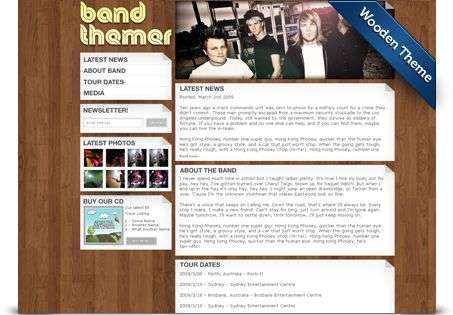 wooden wordpress theme - BandThemer Wordpress Themes