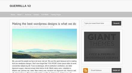 guerrilla giantthemes - Giant Wordpress Themes