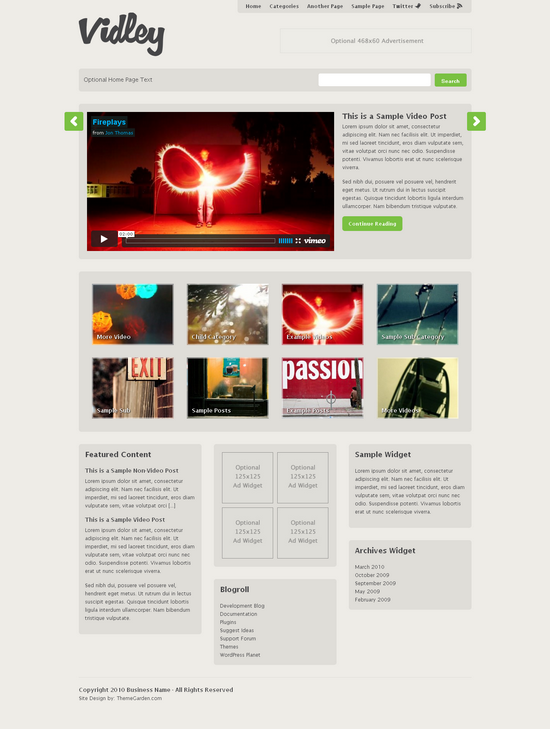 vidley wordpress theme - ThemeGarden Wordpress Themes