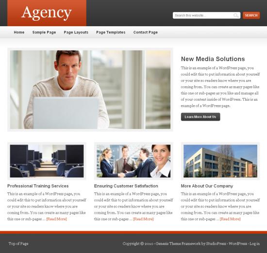 agency genesis studiopress 550x522 - Agency Premium Wordpress Theme