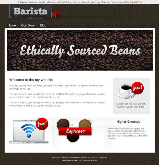 barista coffee wordpress ithemes - Barista Premium Wordpress Theme