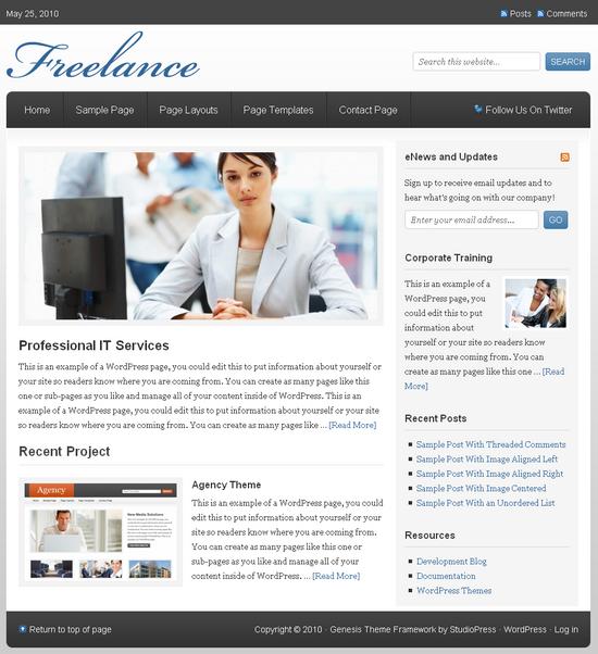 freelance genesis wordpress theme - Freelance Premium Wordpress Theme