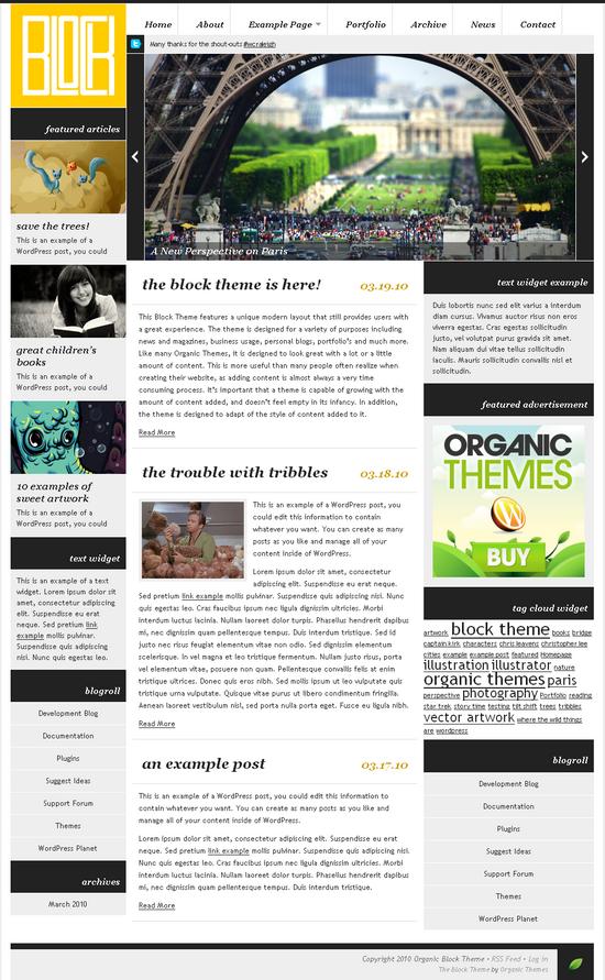 organic block wordpress theme - OrganicThemes Wordpress Themes