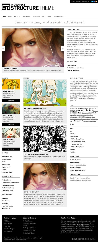 organic structure theme - OrganicThemes Wordpress Themes