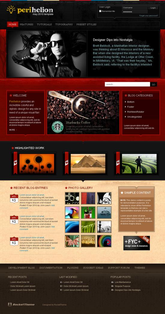 perihelion wordpress theme - Perihelion Premium Wordpress Theme