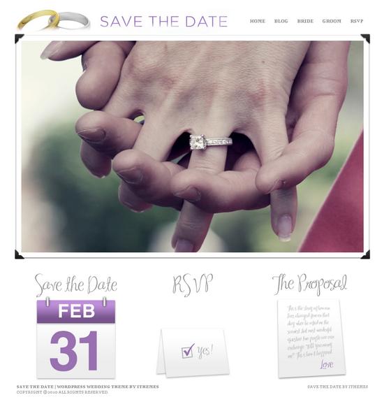 save the date wordpress theme - Save The Date Premium Wordpress Theme