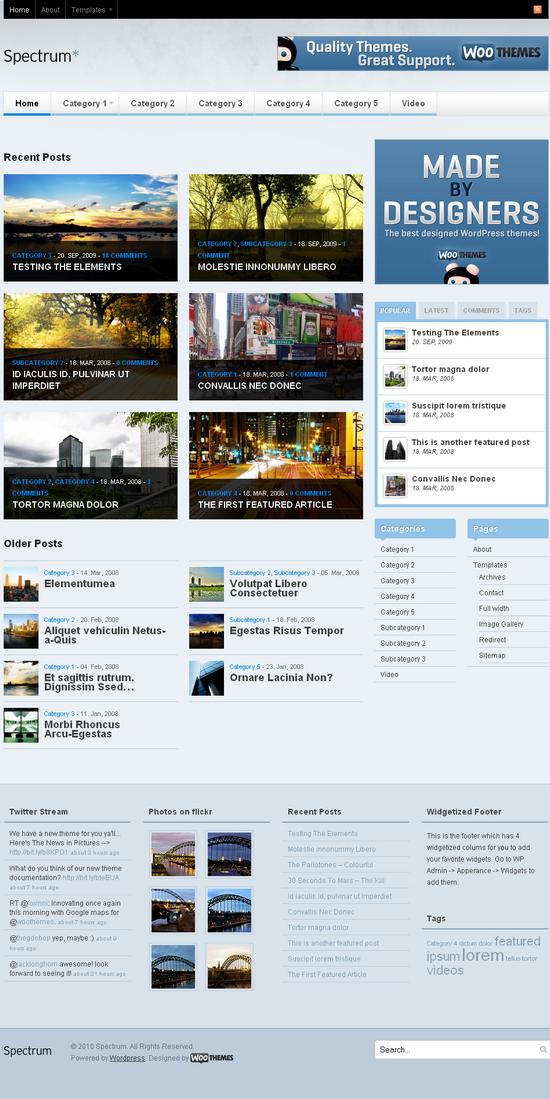 spectrum wordpress theme - Spectrum Premium Wordpress Theme
