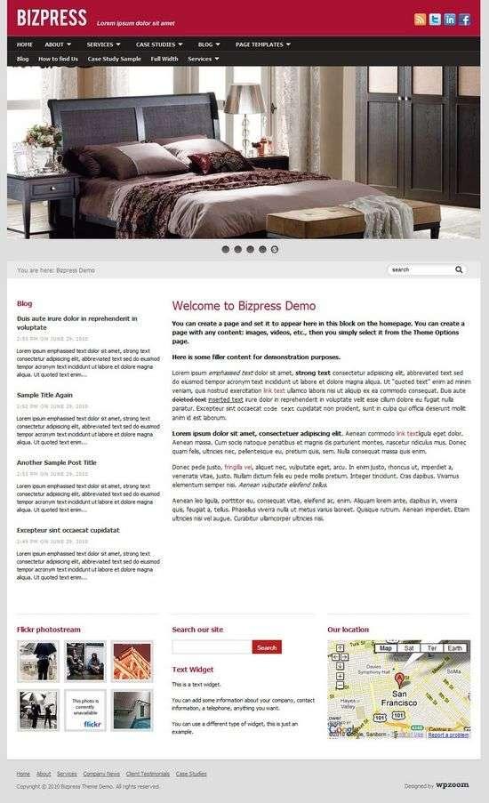 bizpress wordpress theme - BizPress Premium WordPress Theme