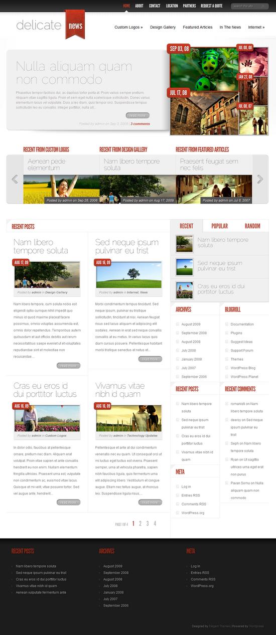 delicatenews wordpress theme - DelicateNews Premium WordPress Theme
