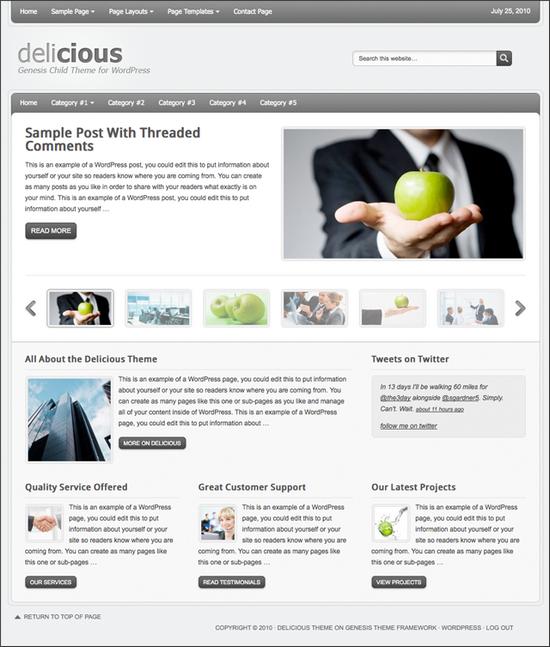 delicious wordpress theme - Delicious Premium WordPress Child Theme