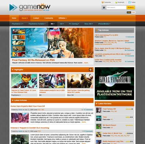 gamenow wpnow theme - WpNow WordPress Themes