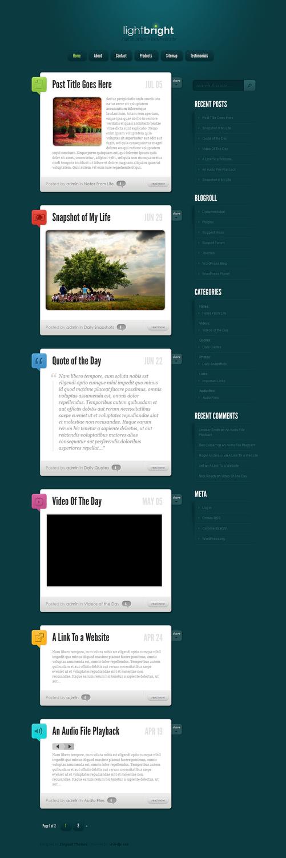 lightbright wordpress theme - LightBright Premium WordPress Theme