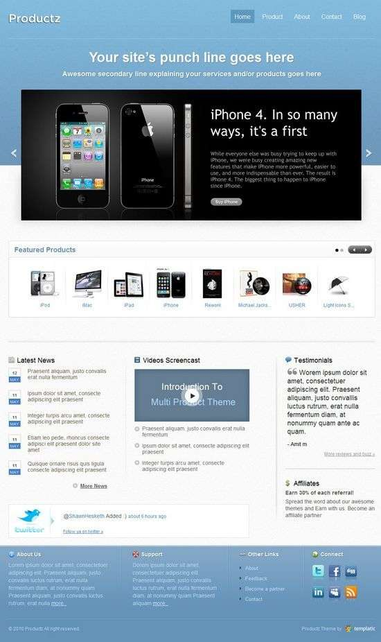 productz wordpress theme - Productz Premium WordPress Theme