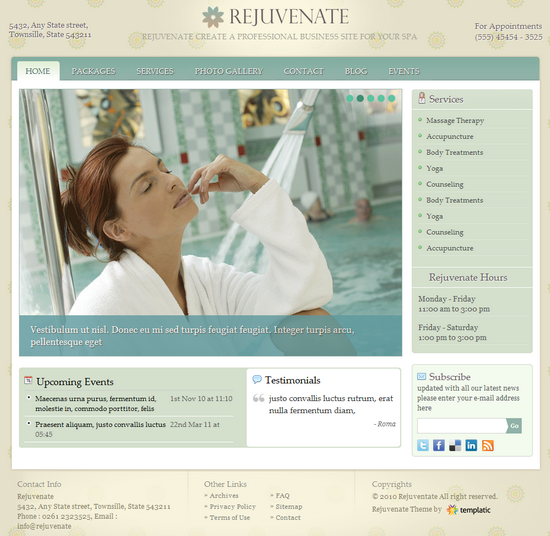rejuvenate wordpress theme - ReJuvenate Premium WordPress Theme